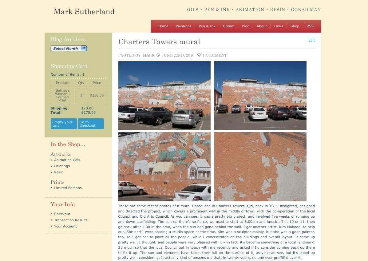 New marksutherlandart.com